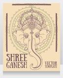 Lord Ganesha, puede ser utilizado como tarjeta para la celebración Ganesh Chaturth Foto de archivo libre de regalías
