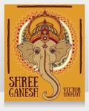 Lord Ganesha, puede ser utilizado como tarjeta para la celebración Ganesh Chaturth Imagen de archivo libre de regalías