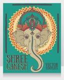 Lord Ganesha, puede ser utilizado como tarjeta para la celebración Ganesh Chaturth Fotos de archivo libres de regalías