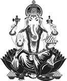 Lord ganesha. Ganesha's head symbolizes the Atman or the soul, which is the ultimate supreme reality of human existence, and his human body signifies Maya or the Stock Photo
