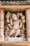 Lord Ganesha sculpture of Vishvanatha Temple, Khajuraho, India,. Lord Ganesha sculpture of Vishvanatha Temple, dedicated to Lord Shiva, Western Temples of Stock Image