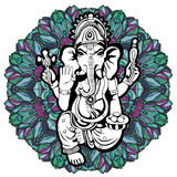 Lord Ganesha sketch on a background. Vector Stock Photography