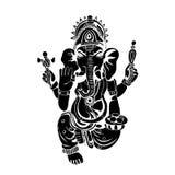 Lord Ganesha skissar på en bakgrund vektor Arkivfoto