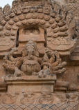 Lord Ganesha statue on Gopuram of Brihadeswarar temple. Royalty Free Stock Image
