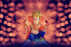 Lord ganesha. Statue in plaster of Paris Royalty Free Stock Image