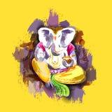 Lord Ganesha in verfstijl Stock Afbeeldingen