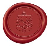 Lord Ganesha Wax Seal Royalty Free Stock Photos