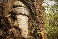 Lord Ganesha is worshiped by the people. Royalty Free Stock Photos