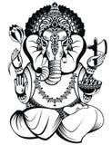 Lord Ganpat in bianco e nero Illustrazione di vettore illustrazione di stock
