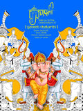 Lord Ganpati background for Ganesh Chaturthi Stock Photos