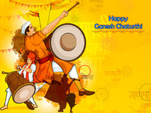 Free Lord Ganpati For Happy Ganesh Chaturthi Festival Celebration Of India Stock Photography - 97997802