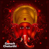 Lord Ganpati on Ganesh Chaturthi background Stock Images