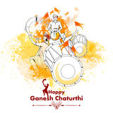 Lord Ganpati on Ganesh Chaturthi background. Easy to edit vector illustration of Lord Ganpati on Ganesh Chaturthi background royalty free illustration