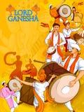 Lord Ganpati for Happy Ganesh Chaturthi festival celebration of India Royalty Free Stock Photography