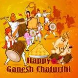 Lord Ganpati for Happy Ganesh Chaturthi festival celebration of India Stock Photography