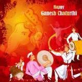 Lord Ganpati for Happy Ganesh Chaturthi festival celebration of India Stock Image