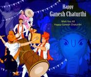 Lord Ganpati for Happy Ganesh Chaturthi festival celebration of India Royalty Free Stock Images