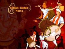 Lord Ganpati for Happy Ganesh Chaturthi festival celebration of India Stock Photos