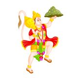 Lord Hanuman. Easy to edit vector illustration of Lord Hanuman in floral design Stock Photos