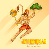 Lord Hanuman. Illustration of Lord Hanuman on abstract background Stock Photo