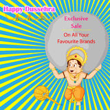 Lord Hanuman offering Happy Dussehra promotion offer Royalty Free Stock Images