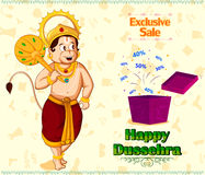 Lord Hanuman offering Happy Dussehra promotion offer Royalty Free Stock Photography