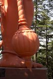 Lord Hanuman statue at a temple Stock Images