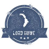 Lord Howe Island logo sign. Royalty Free Stock Photo