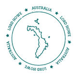 Lord Howe Island vector map. Royalty Free Stock Image