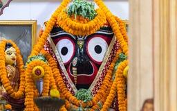Lord Jagannath bij een Tempel in Puri stock afbeelding