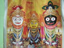 Lord Jagannath. Hindu God. He is believed as one of the avatar of Lord Bishnu stock photos