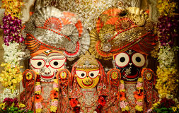 Lord Jagannath. Jagannath (or Jagannatha) meaning Lord of the Universe, is a deity worshipped primarily by Hindu people, mainly in the Indian states of Odisha Stock Photography
