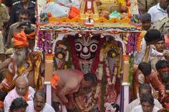 Lord Jagannath at Rathyatra-2015, Ahmedabad Stock Image