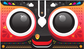 Lord Jagannath. 's face graphic design Royalty Free Stock Photo