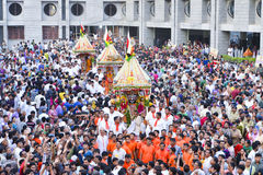 Lord Jagannath's 137th Rath Yatra begins in Ahmedabad, Royalty Free Stock Image