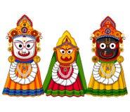 Lord Jagannath, Subhadra and Balabhadra. Vector design of Lord Jagannath, Subhadra and Balabhadra Stock Photography