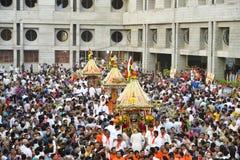 Lord Jagannaths 137. Rath Yatra fängt in Ahmedabad, Rath Yatra an Lizenzfreies Stockbild