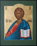 The Lord Jesus Christ the Almighty. Russian icon, which depicts the Lord Jesus Christ the Almighty Stock Photos