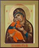 Lord Jesus Christ e a mãe santamente do deus de Vladimir Foto de Stock