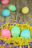 Lord Jesus Christ Easter eggs Stock Photo