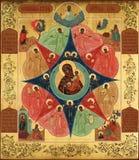 Lord Jesus Christ en de Heilige Moeder van God, brandende struik Royalty-vrije Stock Fotografie