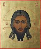 Lord Jesus Christ i capelli dorati onnipotenti Immagine Stock Libera da Diritti