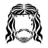 Lord Jesus mit Dornenkrone und Blutstropfen lizenzfreie abbildung