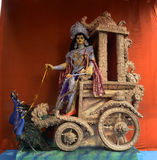 Lord Kartikya. Kartikya idol at Pandal on the day of Kartikya Puja festival. Kartikeya son of lord Shiva & goddess Parvati was worshiped by Bengali on the last royalty free stock image