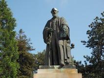 Lord Kelvin-Statue in den botanischen Gärten in Belfast stockfotografie
