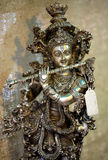 Lord krishna. Copper idol of hindu lord krishna Stock Image
