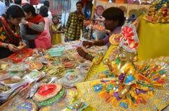 Lord Krishna beröm JANMASHTAMI Arkivfoto