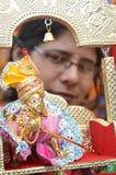 Lord Krishna beröm JANMASHTAMI Fotografering för Bildbyråer