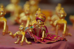 Lord Krishna celebration JANMASHTAMI. Markets decorated with Lord Krishna metal idols for preparing JANMASHTAMI celebration in Bhopal, India. Hindu devotees Stock Photography