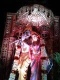 Lord Krishna com estátuas de Radha Imagem de Stock